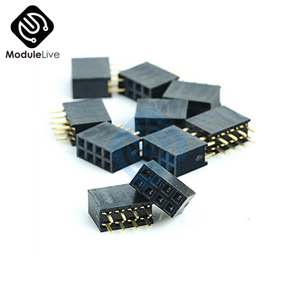 Electronic Components & Supplies Active Components 100pcs 2x6 Pin 12p 2.54mm Double Row Female Straight Header Pitch Socket Strip Customers First