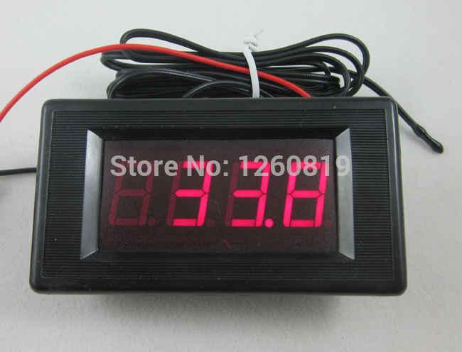 DC 12 V rouge thermomètre numérique à LED haute basse alarme-60 ~ 125C température avec sonde de température capteur B3950 10 K température mètre