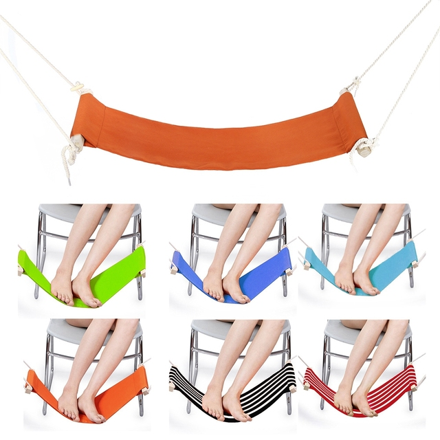 hammock chair stand adjustable folding chairs outdoor furniture 6 color desk foot feet rest pedal office portable home leisure hanger tool