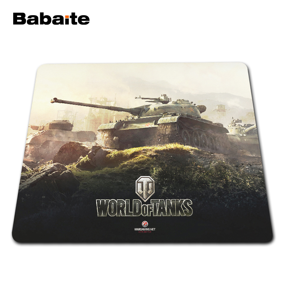 Babaite World of Tanks Mouse Pad Print Locking Edge PC Computer Gaming Mousepad Rubber Play Mat Size 18x22cm,20x25cm,25x29cm