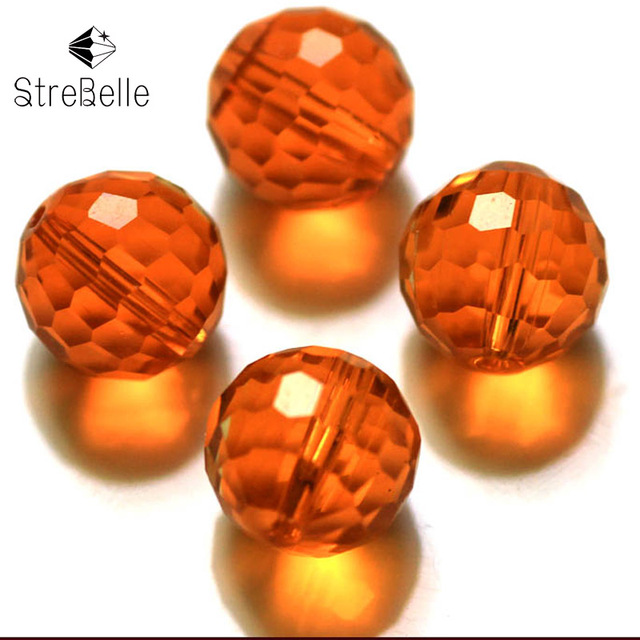 10mm 100 PCs Crystal Glass Faceted Round Beads 5003 for Jewelry Necklace Bracelet Earring Making Dresses Accessory