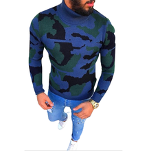 M-3XL Sweater Men 2018 New Arrival Casual Pullover Men Autumn Round Neck camouflage Quality Knitted Brand Male Sweaters