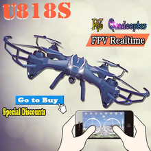 2016 Baru RC Quadcopter Kamera 720HD U818S RC Drone Wifi Real-time transmisi Udara Photogeaph 6-Axis Giroskop RC Helicopter