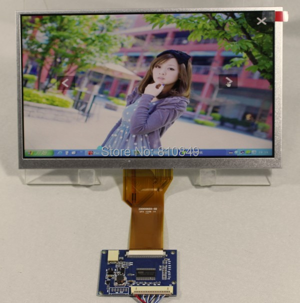 9inch LVDS lcd panel AT090TN12 800*480+LVDS-TTL Tcon board=9inch lcd panel with LVDS interface
