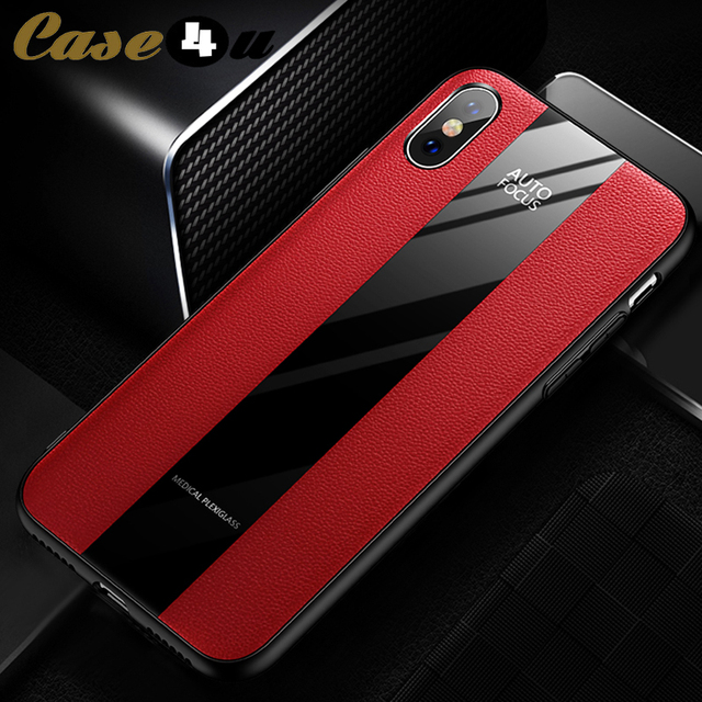 check out e0ae6 68d2b US $2.08 50% OFF|Porsche Design Leather Tempered Glass Silicone Case For  iPhone 6 6s 7 8 Plus X 10 XS Max XR Racing Car Cover Motorsport Sport -in  ...