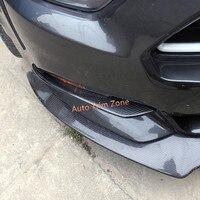 2PCS Carbon Fiber Outer Upper Front Fog Lamps Mouldings For Ford Mustang 2015 2017