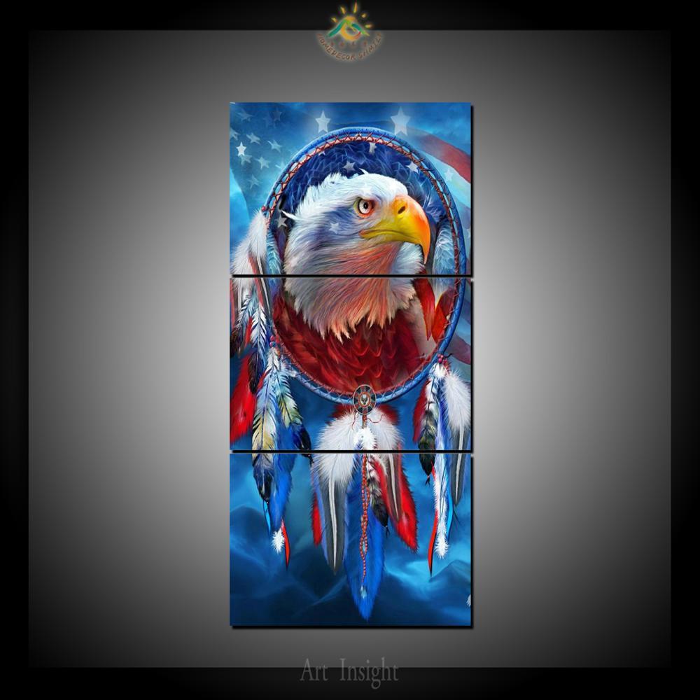 Aliexpress Com Buy 3 Piece Canvas Art Home Decoration: Aliexpress.com : Buy 3 Piece American Eagle Canvas Art