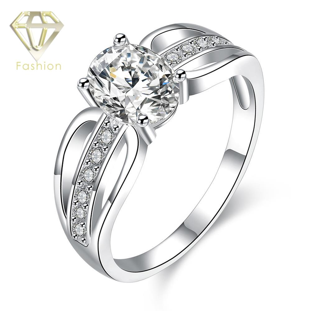 Enement Rings Canada Hot 2017 Classic Cz Paved Silver Online Diamond Wedding