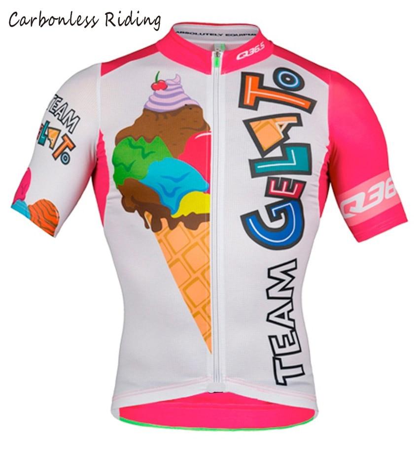 Gelato Men's Cycling Jersey Short Sleeve Quick-Dry Bicycle Clothing Cycling Wear Shirt MTB Jerseys Tops(China)