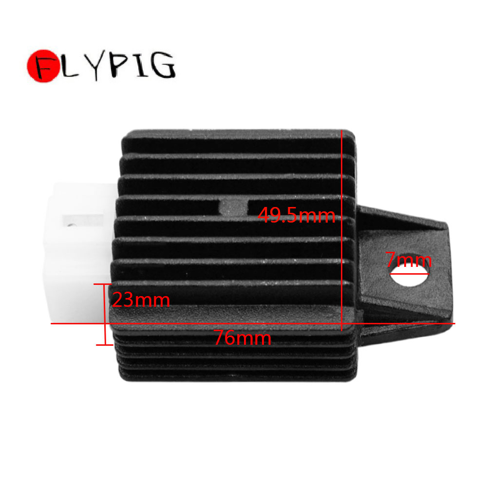 FLYPIG New Motorcycle Parts 4 Pin Voltage Regulator Rectifier 50cc 125cc GY6 50cc 60cc 80cc 125cc 150cc 12V10A ATV Scooter Moped in Motorbike Ingition from Automobiles Motorcycles