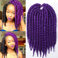 "Hot Sale 1-10 Pack Havana Mambo Twist Crotchet Braids Expression 12""/12roots/70g 2X Crochet Braid Hair Senegalese Twist Hair"