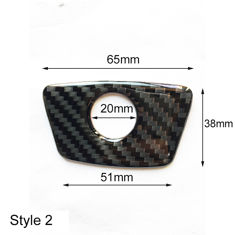 4x Carbon Fiber Pattern Door Lock Pin Knob Cover For BMW 3 5 7 Series E46 E90