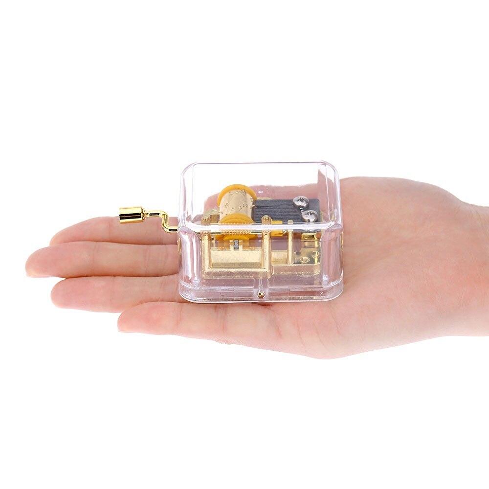 Ручное движение музыкальной шкатулки украшения Декор классический подарок на день рождения ремесла заводная акриловая музыкальная шкатулка мини-музыкальный шкаф