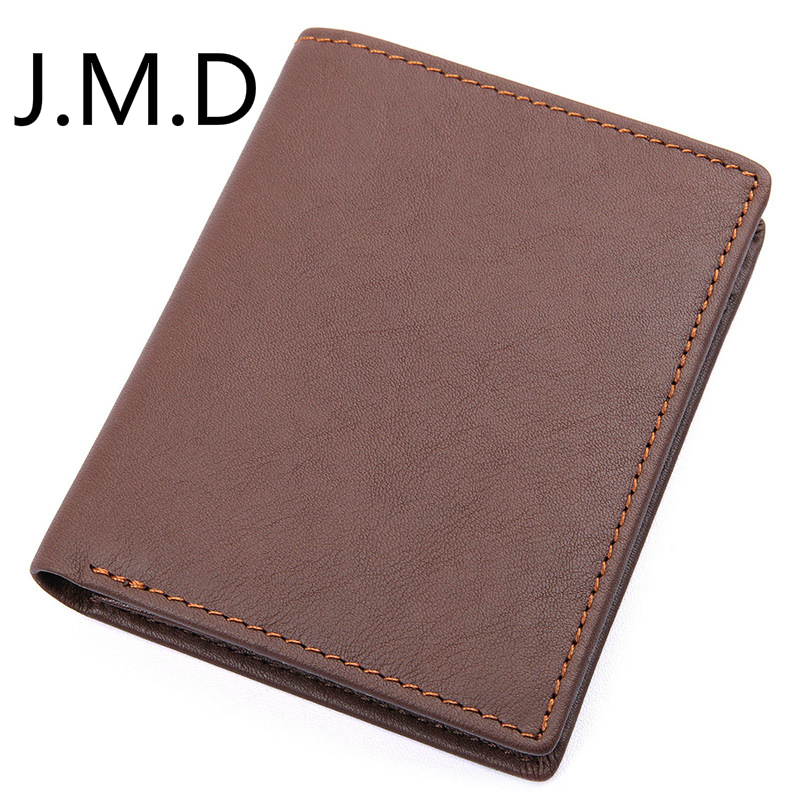 J.M.<font><b>D</b></font> <font><b>2019</b></font> New Arrival Men's Fashion Genuine Leather Wallet Head Layer Cowhide Wallet 8152 image