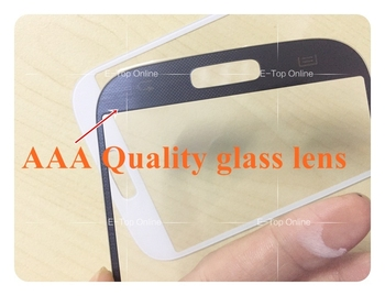 AAA Quality white/Blue Glass Lens pantalla for samsung galaxy s4 I9500 Glass Screen (not digitizer lcd display) image