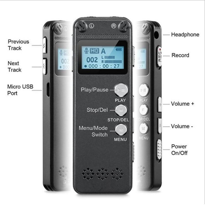 Digital Voice Recorder Mp3 Musik Player Jack 13 Stunden Aufnahmezeit Mit 3,5mm Kopfhörer Micphone Hohe QualitäT Und Preiswert Lanpice Digitale Aufzeichnung Stift Recorder