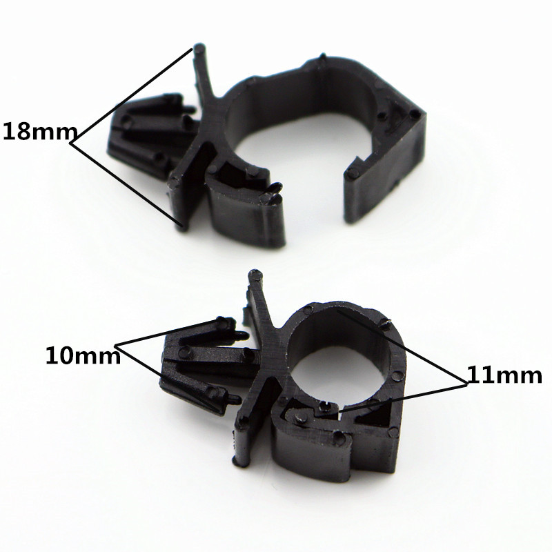 10X High quality Car Wiring Harness Fastener for All Car Auto Route Fixed Clips Corrugated Pipe Tie Wrap Cable clamp