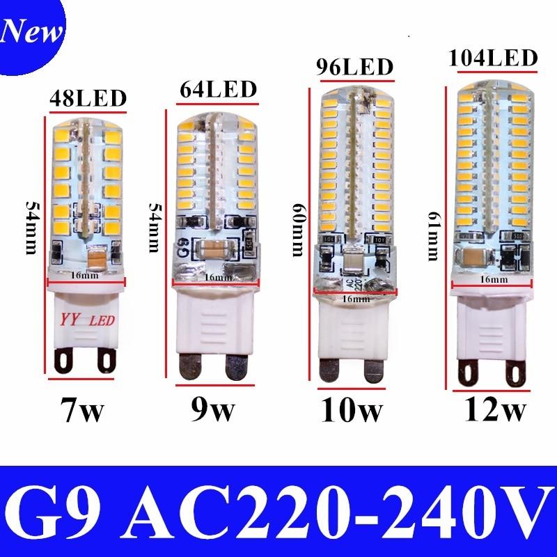 2020 קריס מכירה לוהטת LED מנורת G9 תירס הנורה AC 220V 7W 9W 12 4W-5WSMD 2835 3014 LED אור 360 מעלות Beam זווית זרקור מנורות הנורה
