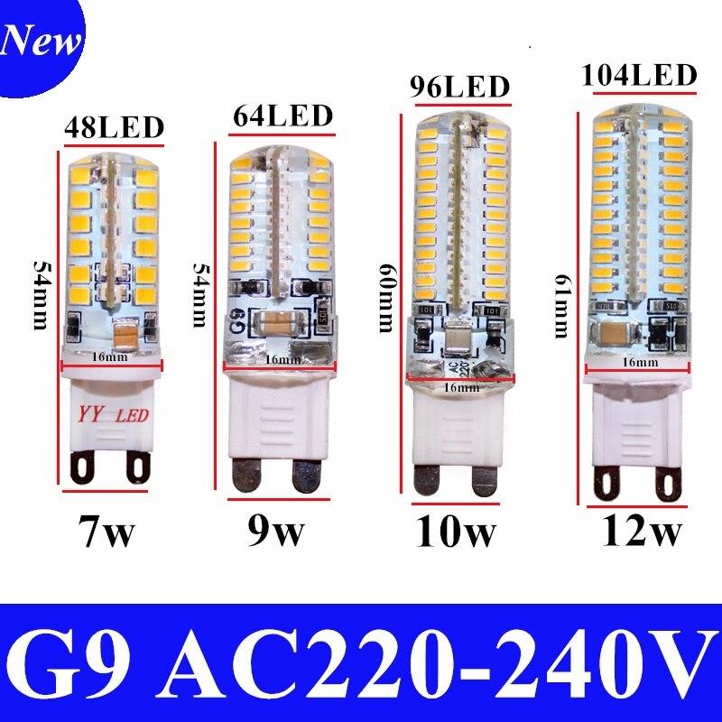 2020 كري رائجة البيع LED مصباح G9 لمبة ذرة التيار المتناوب 220 فولت 7 واط 9 واط 12WSMD 2835 3014 مصباح ليد 360 درجة شعاع زاوية الأضواء مصابيح لمبة