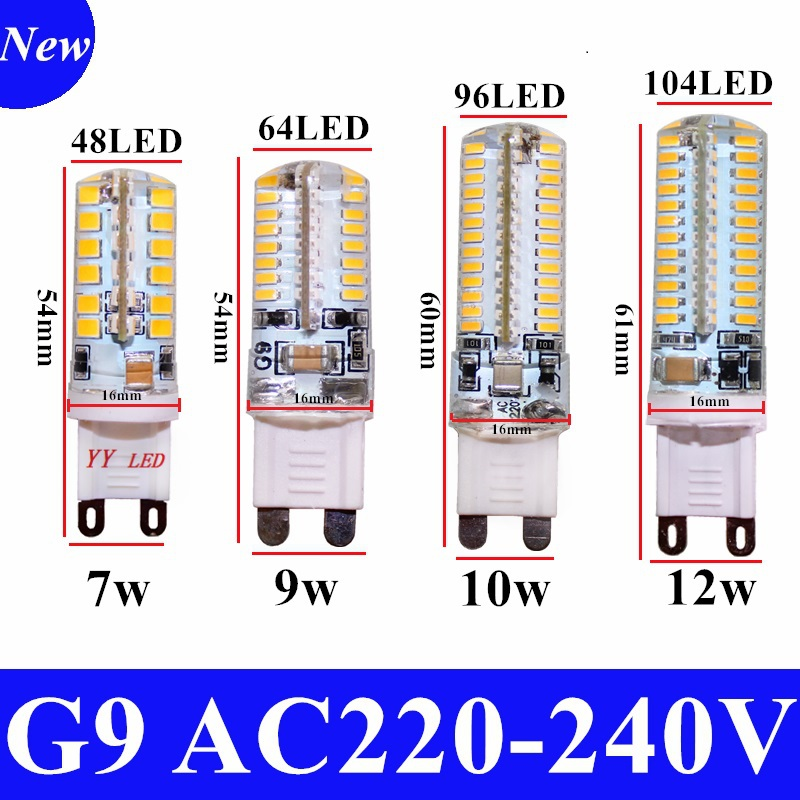 Hot Sale G9 LED Corn Lamp AC 220V 7W 9W 10W 12W SMD 2835 360 Degree Beam Angle Spotlight Chandelier Lamp