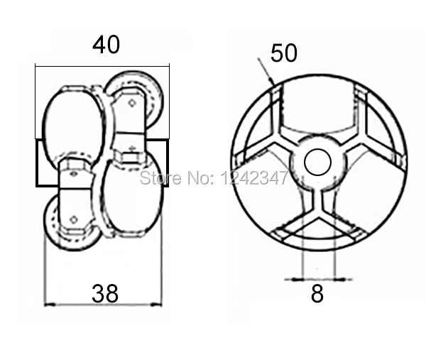 50 мм двойные роликовые слои пластиковый робот Omini трек подшипник конвейер передачи линии робот всенаправленная игрушка Скейт Колесо