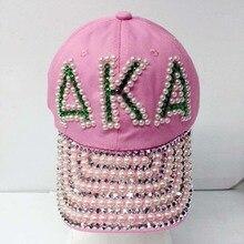 Греческое братство AKA shinny Pearl бейсболка шляпа Горячая на заказ шляпа