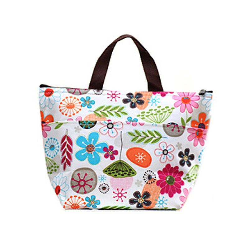 Детская бутылочка для кормления, изоляционная сумка, Переносные сумки для обедов, Термосумка-холодильник для мумии, переносная сумка для хранения, дорожная сумка для пикника - Цвет: flower