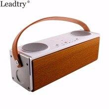 Tragbare Holz Bluetooth Lautsprecher Wireless Outdoor Stereo Bass Sound HIFI Bluetooth Lautsprecher 3600 mAh große Power 10 Watt * 2 lautsprecher