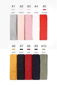 Image 2 - קמטים כותנה חיג אב צעיף רגיל קפלים צעיפי glittescarves מטפחת כורכת טורבנים צעיפי 10 יח\חבילה 10 צבע