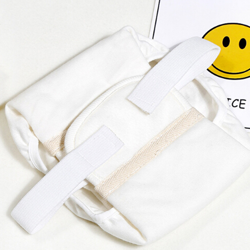 New Baby Cotton White Diaper Three-dimensional Anti-side Leakage Baby Cloth Diaper Newborn Diaper Pants Diaper