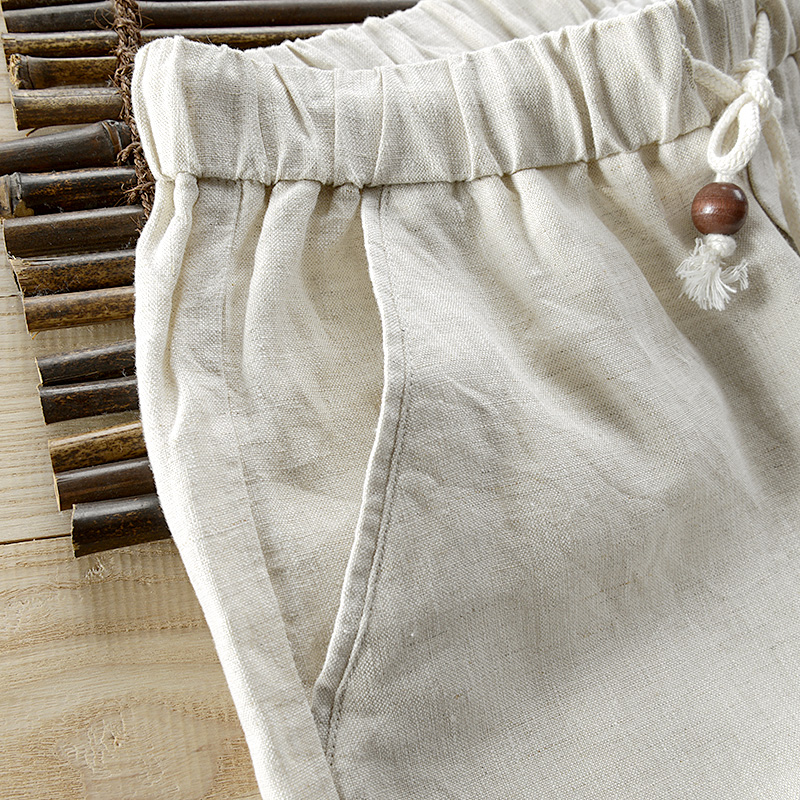 New arrival mens ankle-length pants linen loose casual pants mens 30-40 size brand fashion trousers men broek pantalones
