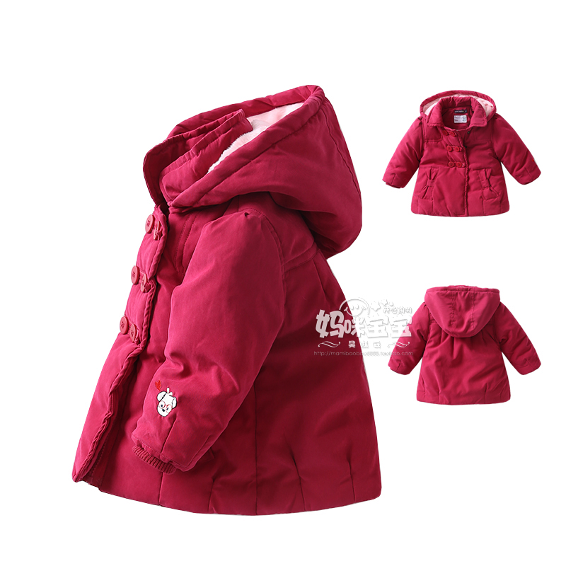 2018 Baby Girls Winter Coat children Jackets & Coats Kids  jacket Warm Outerwear for Girls clothes free shipping children winter coats jacket baby boys warm outerwear thickening outdoors kids snow proof coat parkas cotton padded clothes