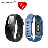 Bijgewerkt ID107 Plus HR Smart Band 0.96 ''Horloge Fitness Armband Sports Tracker Polsband Armband Hartslagmeter Vs MI Band 2