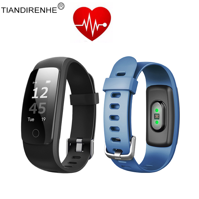 Updated ID107 Plus HR Smart Band 0.96'' Watch Fitness Bracelet Sports Tracker Wristband Bracelet Heart Rate Monitor Vs MI Band 2