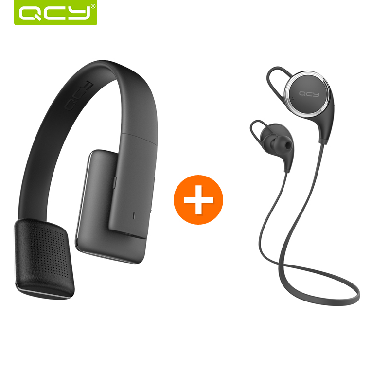 ФОТО QCY QCY50 noise cancelling headphones HIFI 3D stereo sound headset wireless bluetooth 4.1 and QY8 supports earphones for iphone