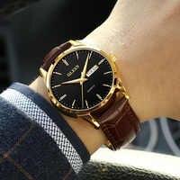 Relojes OLEVS para hombre reloj de pulsera de cuarzo de lujo de marca superior reloj de pulsera de hombre reloj de cuero de negocios Casual de moda para hombre reloj Masculino