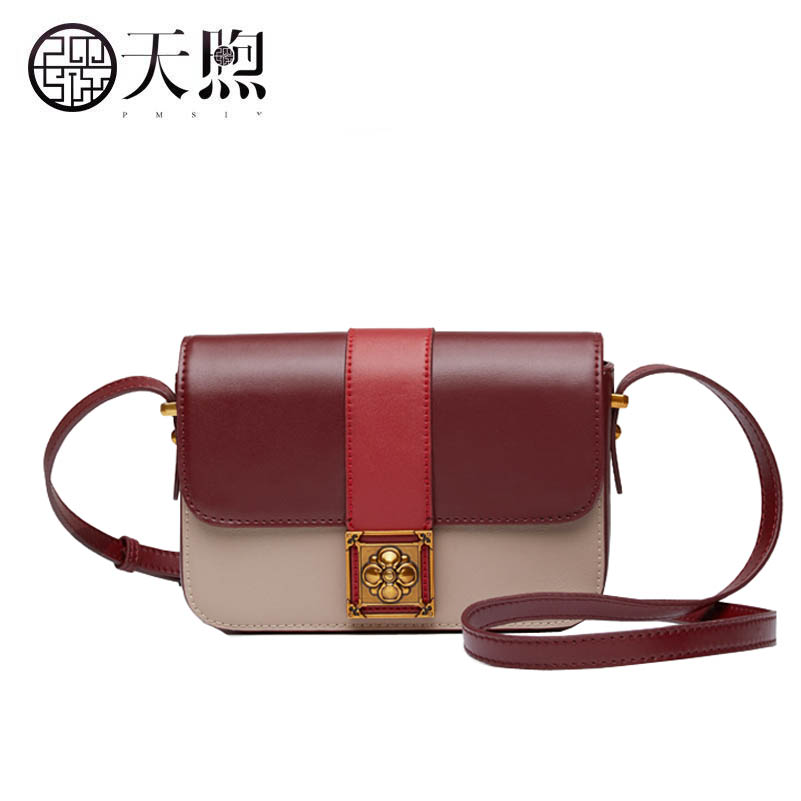 Famous brand top quality dermis women bag 2017 autumn and winter new leather color small square bag mini Messenger shoulder bag 2017 autumn and winter small bag new