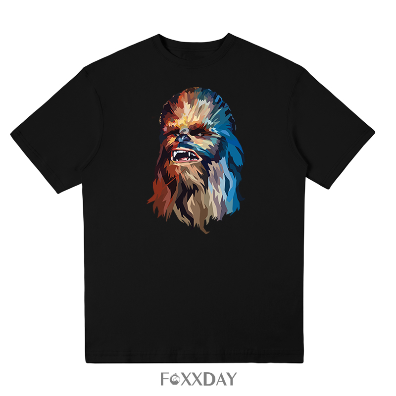 2018 Hot Selling O Neck Tops T-shirt Star Wars Tee shirt Chewbacca Funny t shirt Men Clothes short Sleeve Cotton free shipping