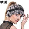 QUEENFUR Women's Fashion Elegant Headband Real Knitted Rex Rabbit Fur Headwrap 2016 Winter Pop Super Elasticity Female Scarves