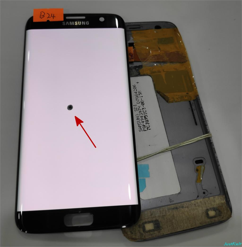 NO B24 for Samsung Galaxy S7 edge G935F G935A G935FD Defect lcd display with touch screen