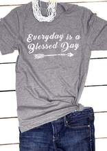 Everyday Is A Blessed Day Arrow graphic T-Shirt Tee baptism Christian fashion grunge tumblr goth top