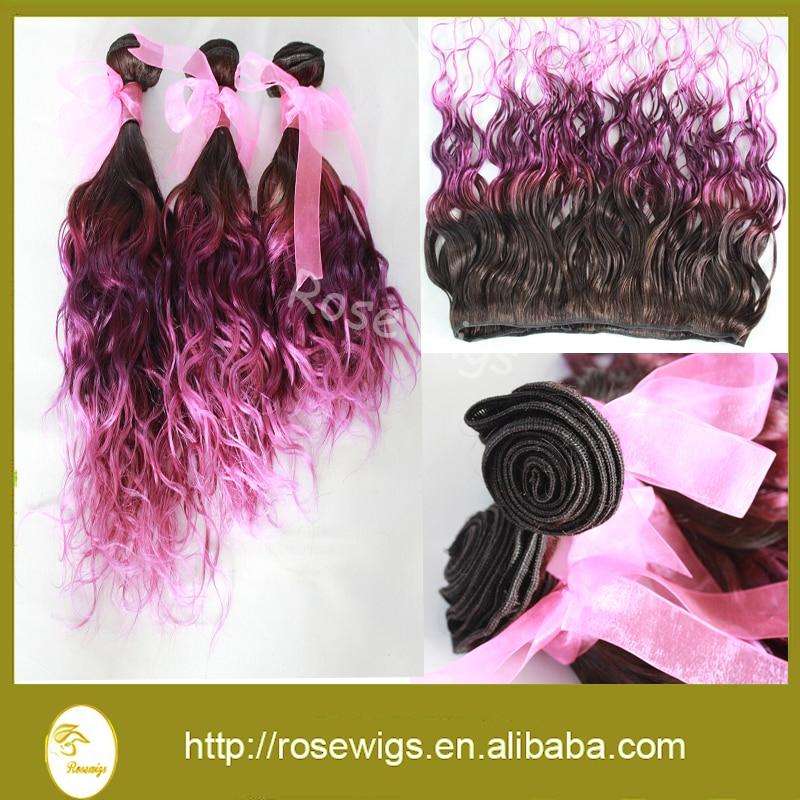 Aliexpress Machine Double Weft Ombre Color Hair Virgin Hair Suitable