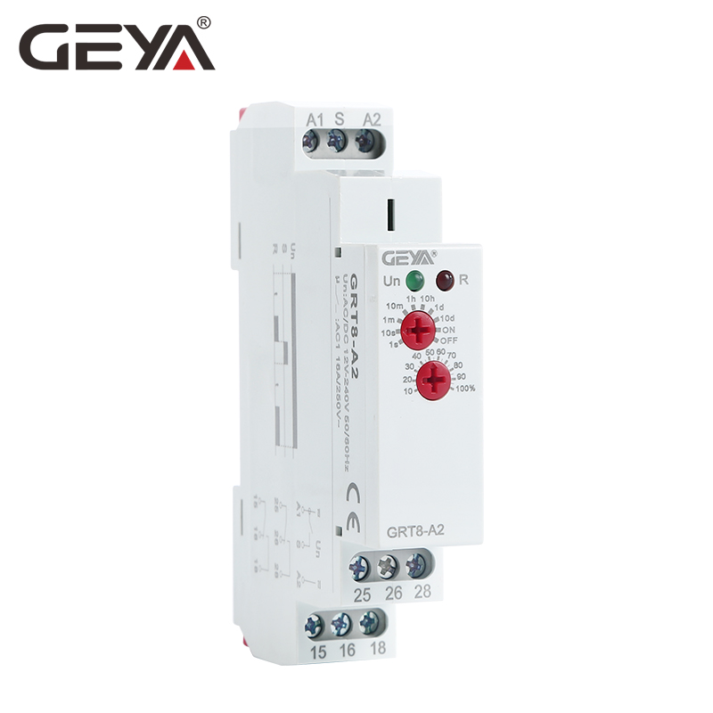 10PCS Free Shipping GEYA GRT8 A Electronic 16A ON Delay Timer Relay Single Function Time Relay