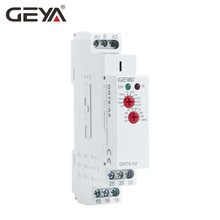 10PCS Free Shipping GEYA GRT8-A Electronic 16A ON Delay Timer Relay Single Function Time Relay DIN Rail Type 18mm Width free shipping 1pc high quality epn510 pulse relay self locking relay 230v 1no signal relay 16a switch din rail