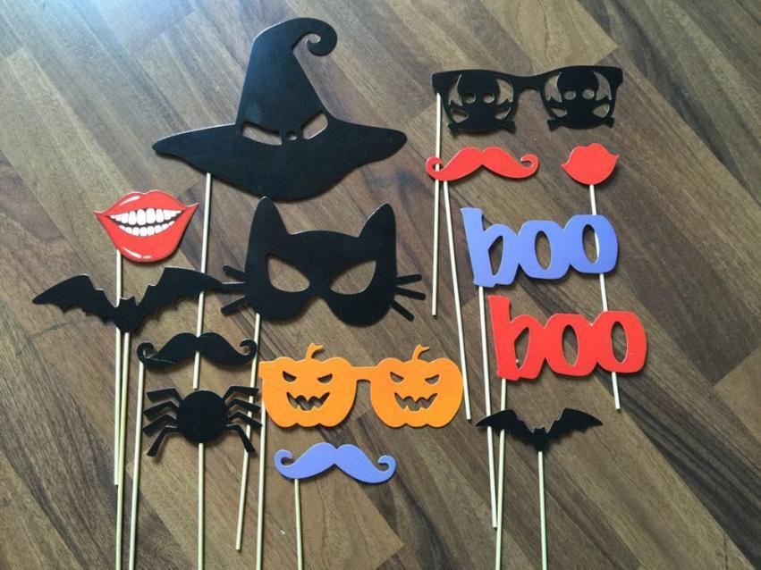 Nouvelle arrivée produit drôle bricolage Photo stand accessoires Moustaches sur un bâton fête d'halloween