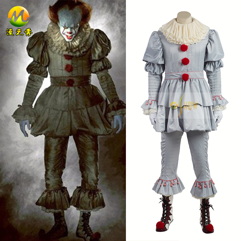 Top Quality Stephen King's It Pennywise Cosplay Costume For Adorable Pennywise Costume Pattern