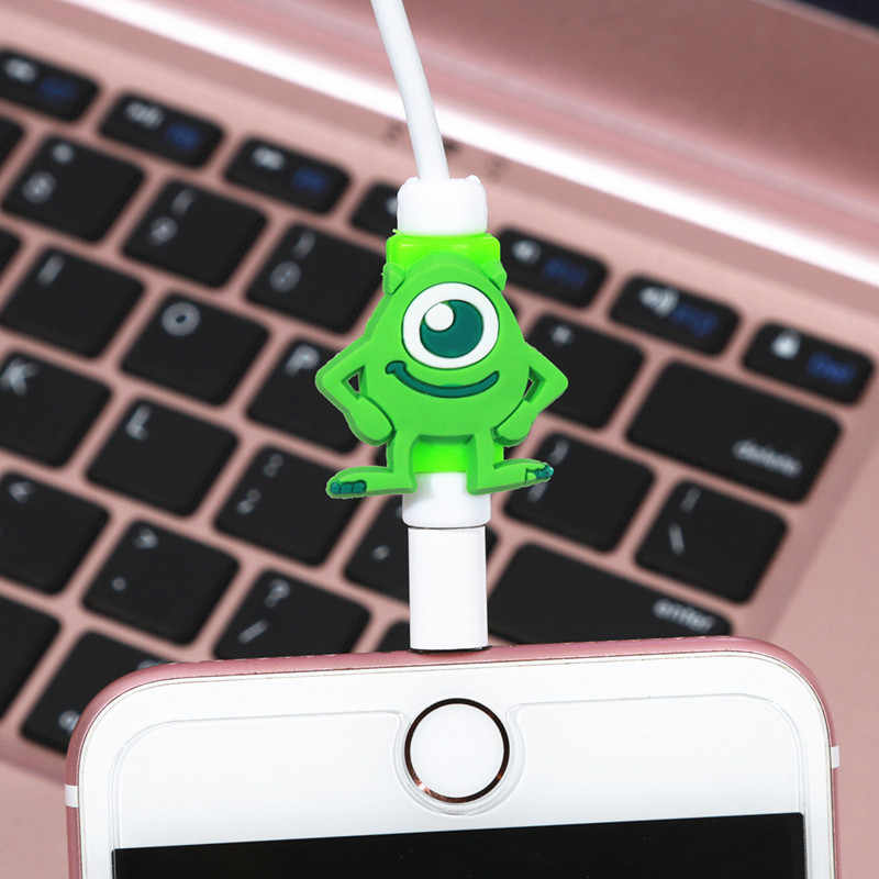 FFFAS Cartoon Cable Protector Arrange Charger USB Cable Winder For Apple IPhone 4 5 5s 6 6s 7 8 X Plus Cable Protect Decoration