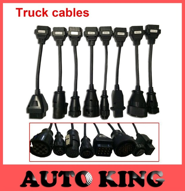 Wholesale obd2 connector 8pcs truck cables for all serial tcs CDP pro plus/ wo cdp / multidiag provd ds cdp diagnostic tool