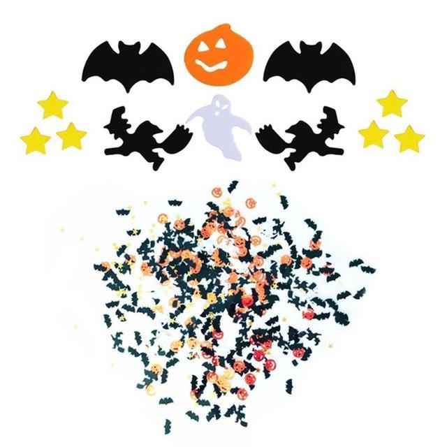 Хэллоуин Конфетти Для вечеринки ведьма жуткий Паутина Хэллоуин блестки Скелет голова фестиваль украшения Лидер продаж