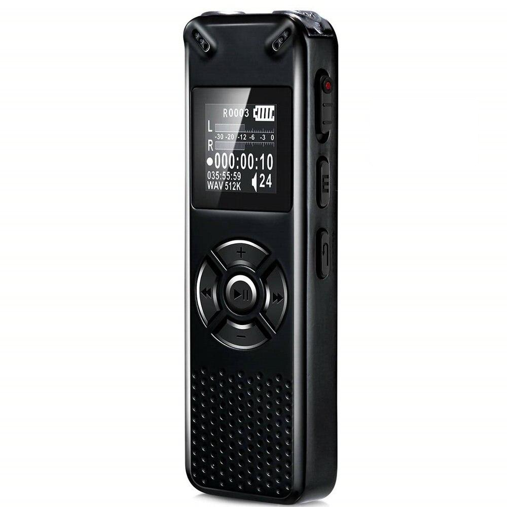 V91 Vandlion Professional Voice Activated Digital Audio Recorder 16GB 32GB Recording Dictaphone WAV MP3 Player